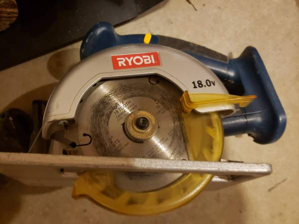 Photo Ryobi Circular Saw-Ryobi P501 5-12quot 18v One Circular Saw Tool Only - $20 (CLEMMONS)