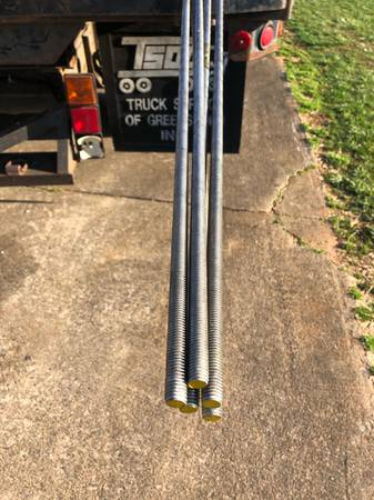 Photo Stainless Steel Threaded Rod 12-13tpi x 12ft New for - $15 (King)