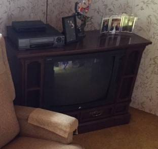 Photo Working 1980s Console TV