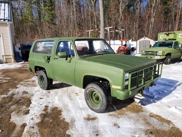 Photo 1986 Cucv m1009 Chevy California truck d10 k5 blazer - $9400 (Westminster)