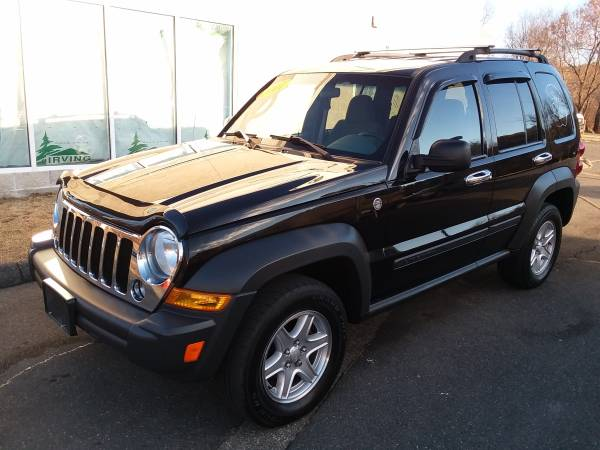 Photo 2007 JEEP LIBERTY 4X4-TRAIL RATED PKG-129K-BLACK-MUST SEE AND DRIVE - $4500 (RIVERVIEW AUTO SALES PALMER MA)