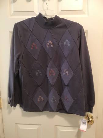 Photo Alfred Dunner purple pullover top XL NWT - $14 (Sturbridge)