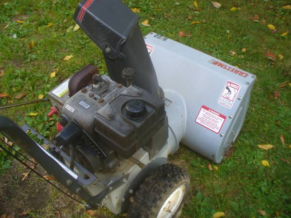 Photo Craftsman snow blowers 2 ( parts - $100 (Milford Ma.)