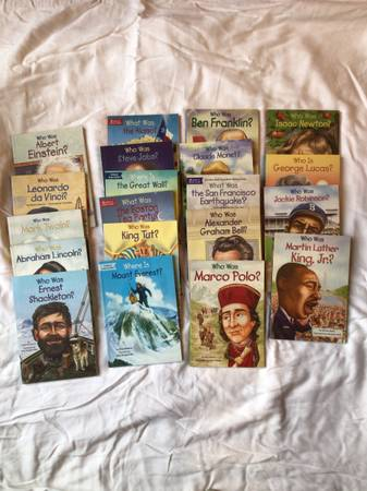 Photo Lot of 22 Who was, Who is, What was, and Where is Series Books for Grades 3-7 - $50 (Oxford)