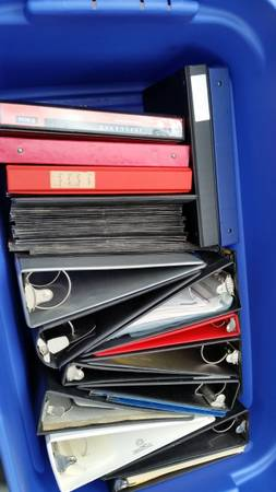 Photo Office supplies - Over 30 3 ring binders (over 30 different sizes) - $50 (Westborough)