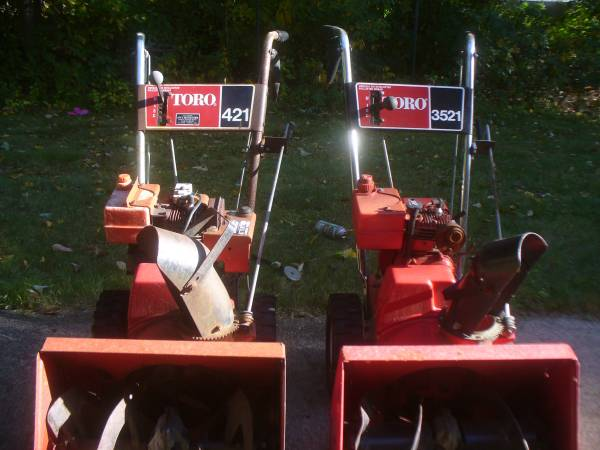 Photo Toro Snow Blowers 2 ( parts - $100 (Milford Ma.)