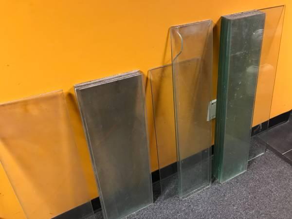 Photo old glass shelves - $100 (Dayville)