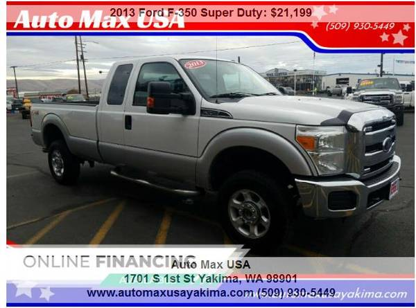 Photo 2013 Ford F-350 Super Duty XLT 4x4 4dr SuperCab 8 ft. LB - $21,199 (YAKIMA CALL OR TEXT JIMMY 509-930-5449)