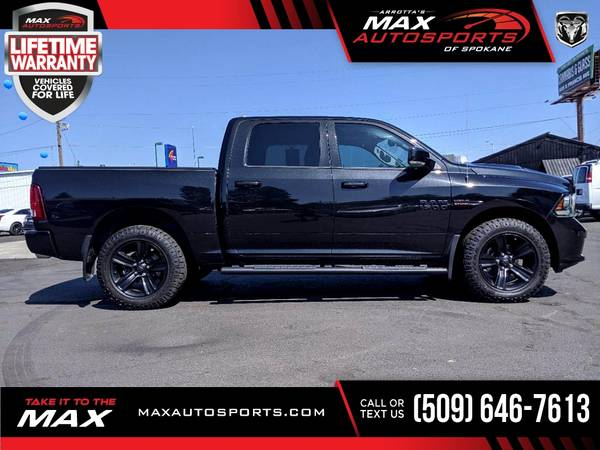 Photo 2017 Ram 1500 Night Pickup at a PRICE YOU CAN AFFORD - $40,980 (Max Autosports of Spokane)