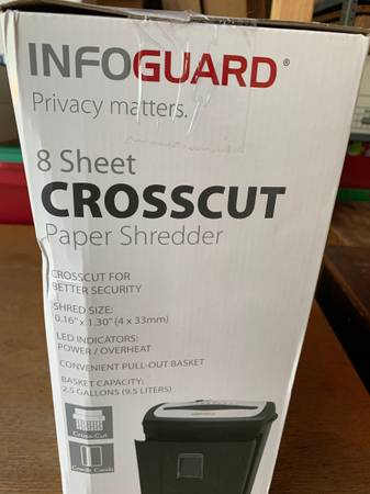 Photo Cross cut paper shredder - $15 (West Valley)