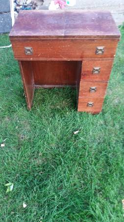 Photo Wood Sewing Table  Small Desk w drawers - $25 (Yakima)