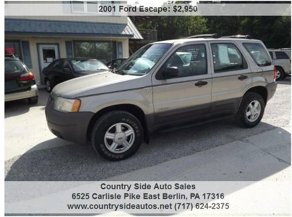 Photo 2001 Ford Escape XLS 4WD 4dr SUV - $2950 (Countryside Auto Sales)