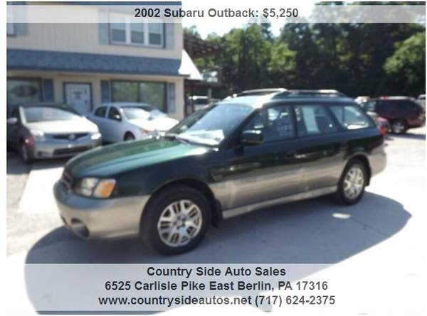 Photo 2002 Subaru Outback L.L. Bean Edition AWD 4dr Wagon - $5,250 (Countryside Auto Sales)