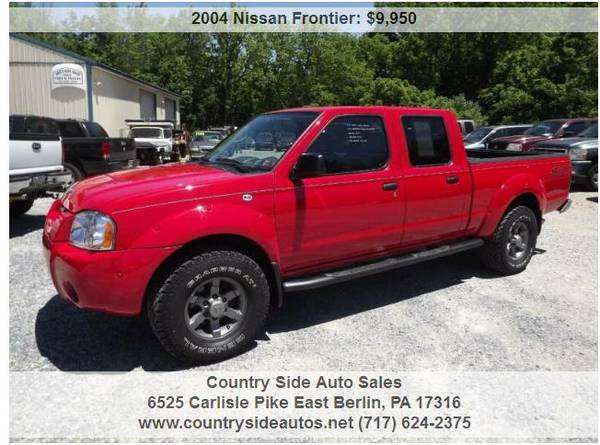 Photo 2004 Nissan Frontier XE V6 4dr Crew Cab 4WD SB - $9950 (Countryside Auto Sales)