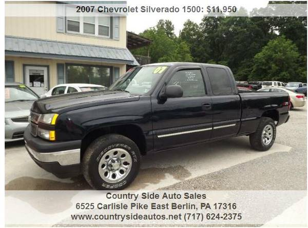 Photo 2007 Chevrolet Silverado 1500 Work Truck 4dr Extended Cab 4WD 6.5 ft. - $11,950 (Countryside Auto Sales)