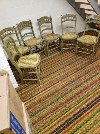 Photo Antique 6 matching cane seat chairs - $295 (Hanover)
