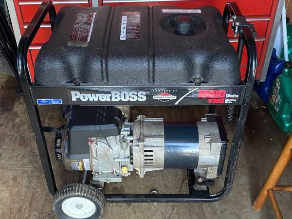 Photo Briggs and Stratton power boss generator - $350 (Glenville)