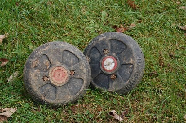 Photo Craftsman Tractor Wheels Weights - $30 (Glen Rock)
