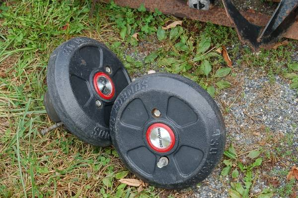 Photo Craftsman Tractor Wheels Weights - $50 (Glen Rock)