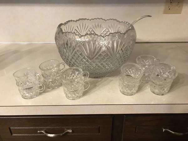 Photo Crystal Punch Bowl (Hanover)