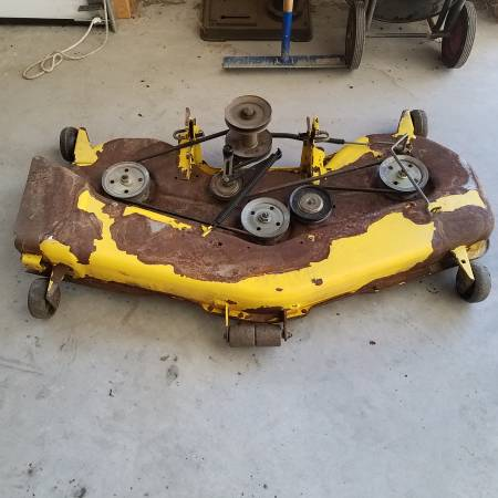 Photo John Deere 54quot deck removed from a G100 Deck only - $100 (Fawn Grove)