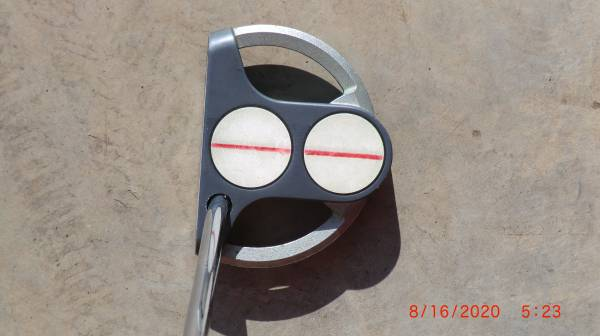 Photo Odyssey white steel 2 ball putter - $40