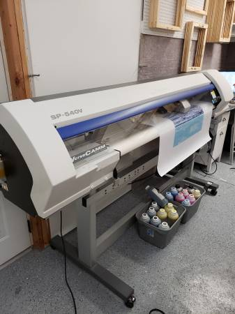 Photo SP-540V ROLAND Printer Cutter With OEM Takeup System, Bulk Ink, Laptop - $4550 (Near Gettysburg, PA)