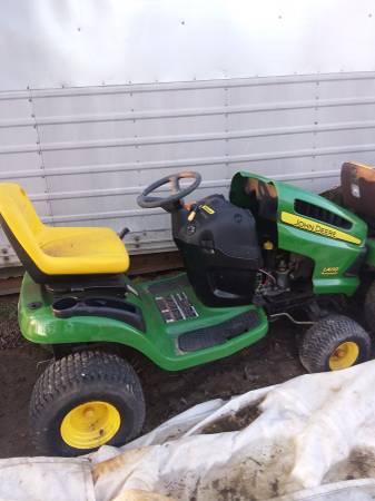 Photo 2 john deere riding lawn tractors - $350 (Parkman)