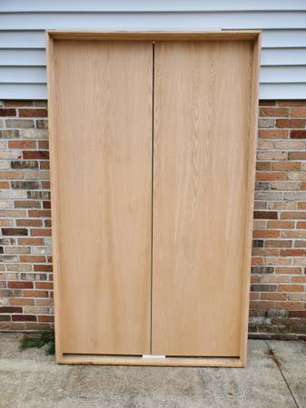Photo 48quotx80quot Prehung Interior Flush Oak Hollow Core Double Door French Door - $150 (UNIONTOWN, OH)