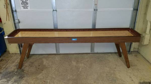 Photo 9 Foot American Shuffleboard Table, 194039s Era. - $1500 (Vienna)