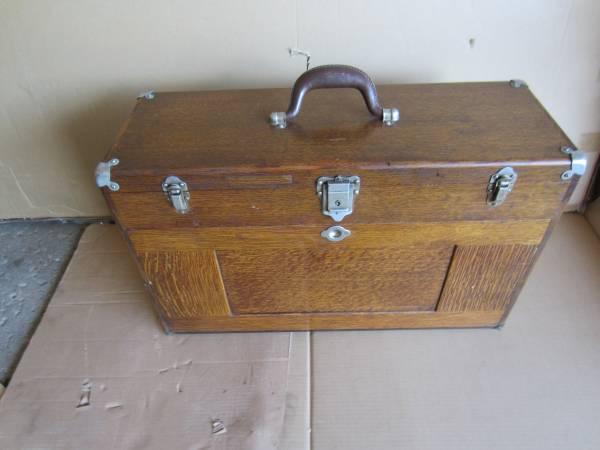 Photo Antique Gerstner Model 052 Oak Wood Machinist Tool Box - $475 (North Lima OH)