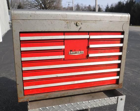 Photo CRAFTSMAN 10 DRAWER TOOL CHEST...1968 - $180 (CANFIELD, OHIO)