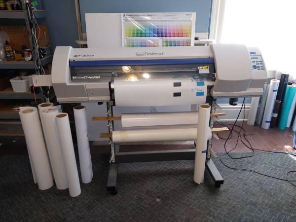 Photo Roland SP-300v PrinterCutter - $1,800 (W MIDDLESEX)