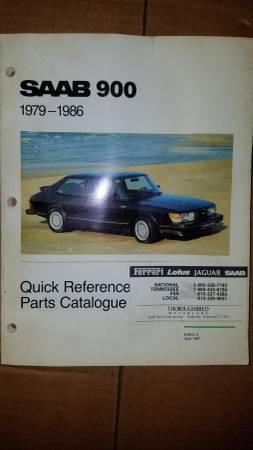 Photo Saab 900 1979  1986 Quick Reference Parts Catalog - $1