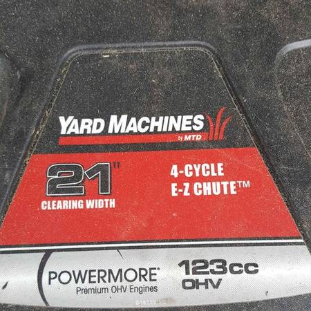 Photo Snowblower - 21quot Yard Machines - $150 (Rogers, OH)