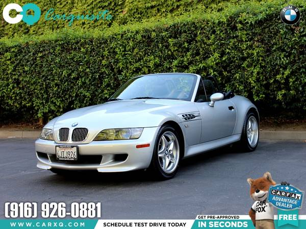 Photo 2000 BMW Z3 M Z3M M Power 3.2L with ONLY 52,422 Miles - $16977 (BMW Z3 Z 3 Z-3 M 2000 Car SUV Truck CUDL)