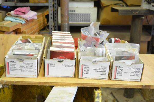 Photo Briggs and Stratton Parts Lot - $1,750 (Wilton)