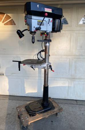 Photo Craftsman 7ft Tall Drill Press 17-Speed and Light (Works Good) - $465 (Yuba City)