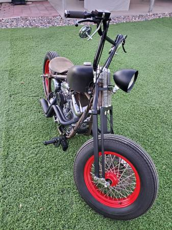 Photo 2008 Bobber with Harley style Softail frame and springer front. - $7,500 (Yuma)