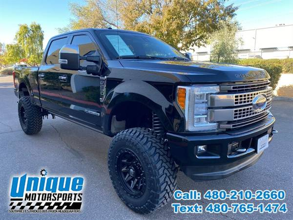 Photo 2017 FORD F-250 CREW CAB PLATINUM TRUCK  LIFTED  6.7 DIESEL  REA - $64,995 (DELIVERED RIGHT TO YOU NO OBLIGATION)