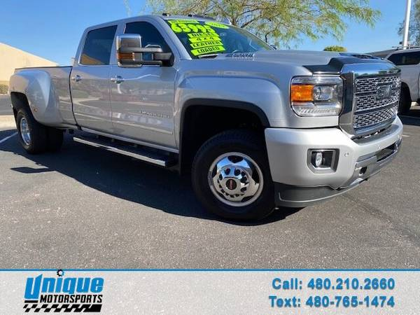 Photo CLEAN LUXURIOUS 2019 GMC SIERRA 3500 DENALI DUALLY 4X4 6.6 DURAMAX T - $63,995 (DELIVERED RIGHT TO YOU NO OBLIGATION)