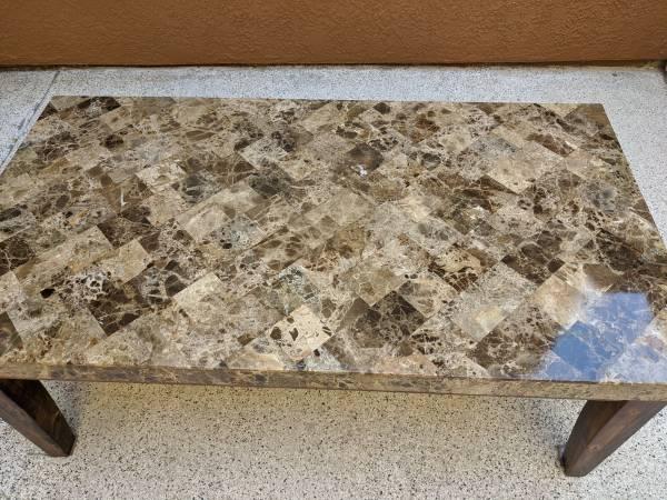 Photo Coffee Table (Faux Granite)delete when sold - $65 (Yuma)