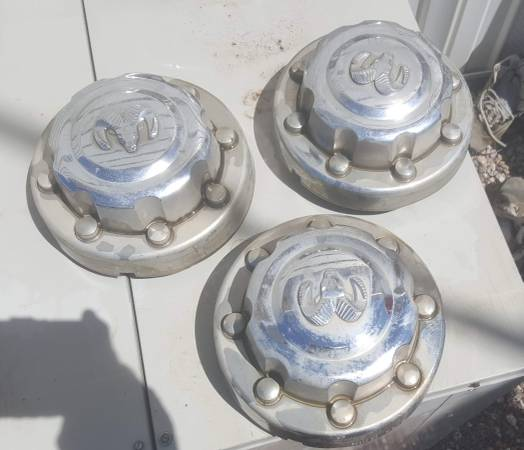 Photo Dodge dually pickup wheel chrome  center caps - $20 (Wellton)