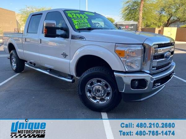 Photo EXTRA CLEAN 2016 FORD F350 CREW CAB LARIAT 4X4 SHORT BED 6.7 LITER P - $42,995