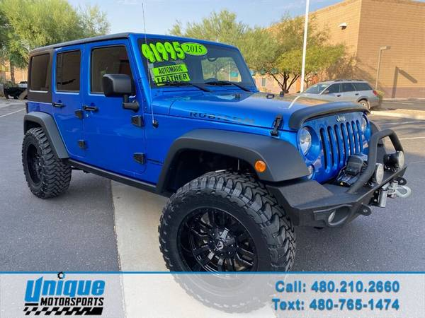 Photo HALLOWEEN SALE PRICES SLASHED LIFTED 2015 JEEP WRANGLER UNLIMIT - $39,995 (DELIVERED RIGHT TO YOU NO OBLIGATION)