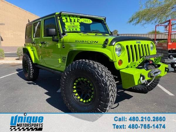 Photo LIFTED 2012 JEEP WRANGLER UNLIMITED RUBICON GECKO LIMITED EDITION 4X - $37,995 (DELIVERED RIGHT TO YOU NO OBLIGATION)