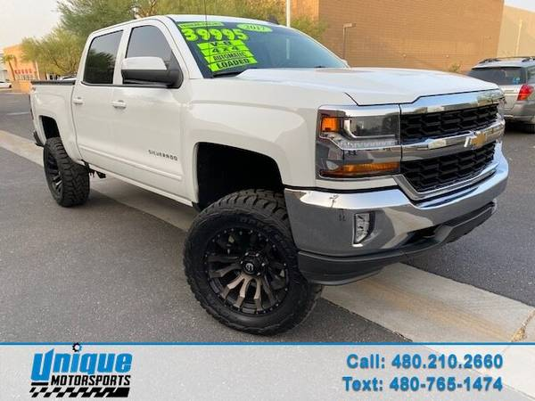 LIFTED 2017 CHEVY 1500 CREW CAB LT 4X4 SHORT BED ECOTEC3 5.3 LITER - $39,995