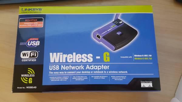 Photo LINKSYS WUSB54G WIRELESS-G USB NETWORK ADAPTER USED - $21 (SAN DIEGO)