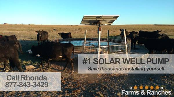 Photo Solar powered deep well pump Small-scale and commercial-scale - $1,550 (within 150miles)
