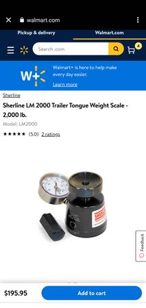 Photo Trailer Tongue weight Jack Scale(2000 lb) - $150 (Yuma)